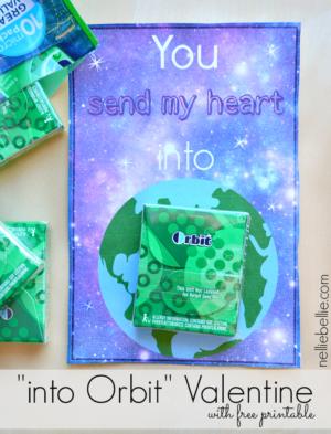 """""""into orbit"""" Valentine with free printable."""