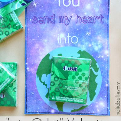 """Orbit"" gum Valentine with free printable"