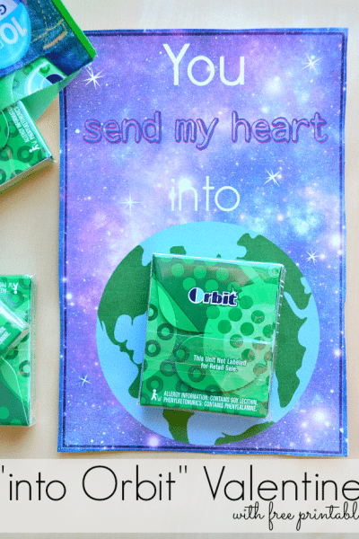 """Orbit"" gum Valentine with free printable"