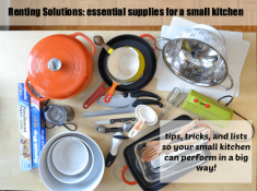renting solutions: the only 20 essentials you need for a small kitchen