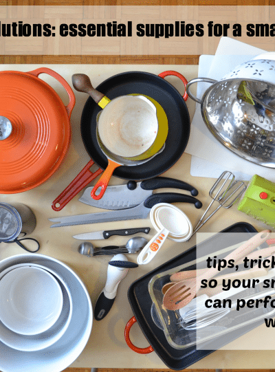 Renting Solutions: essential supplies for a small kitchen
