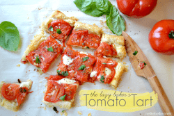 Tomato Tart from www.nelliebellie.com. This is a simple and fun dish!