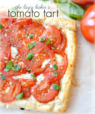 semi-homemade tomato tart.