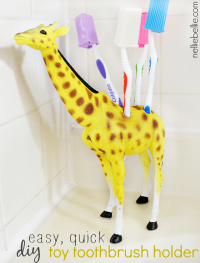 How to turn a plastic toy into a toothbrush holder