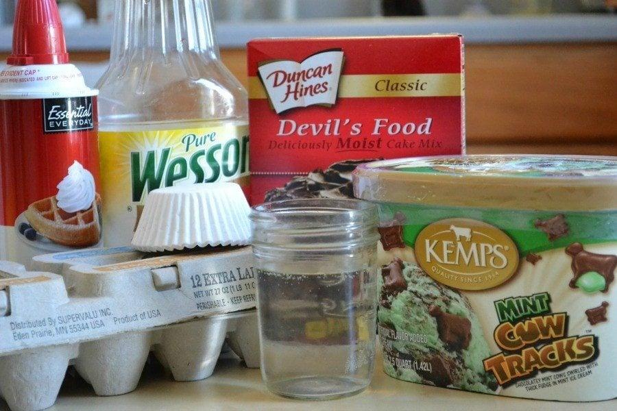 Icecream cupcake ingredients