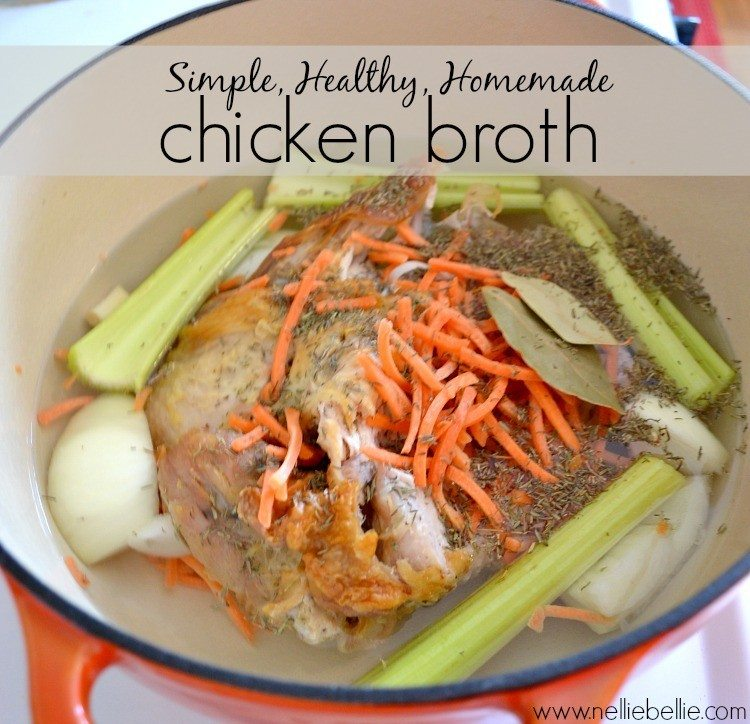 Simple, Healthy, Homemade Chicken Broth