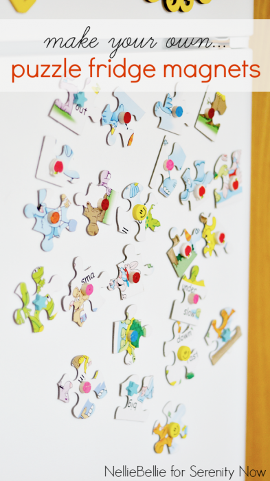 quick & easy tutorial to make fridge magnets! A great way to repurpose an unused puzzle!
