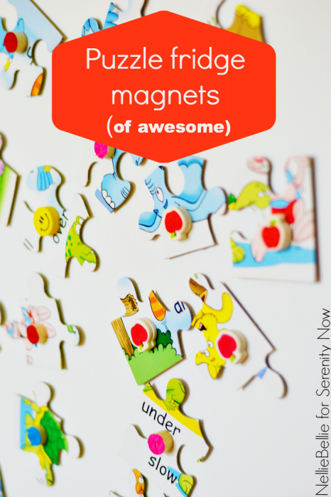 quick & easy way to make fridge magnets! A great way to repurpose an unused puzzle!