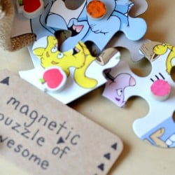 DIY Magnets from puzzle pieces