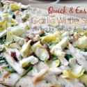 This delicious garlic white pizza sauce recipe is a fabulous variation for your pizza night!