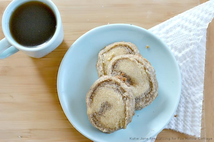 Super delicious vanilla espresso shortbread cookies