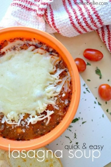 One-Pot 30-Min Lasagna Soup.