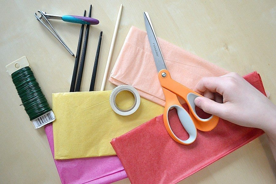 Easy Diy Tissue Paper Flowers A Simple DIY From NellieBellie