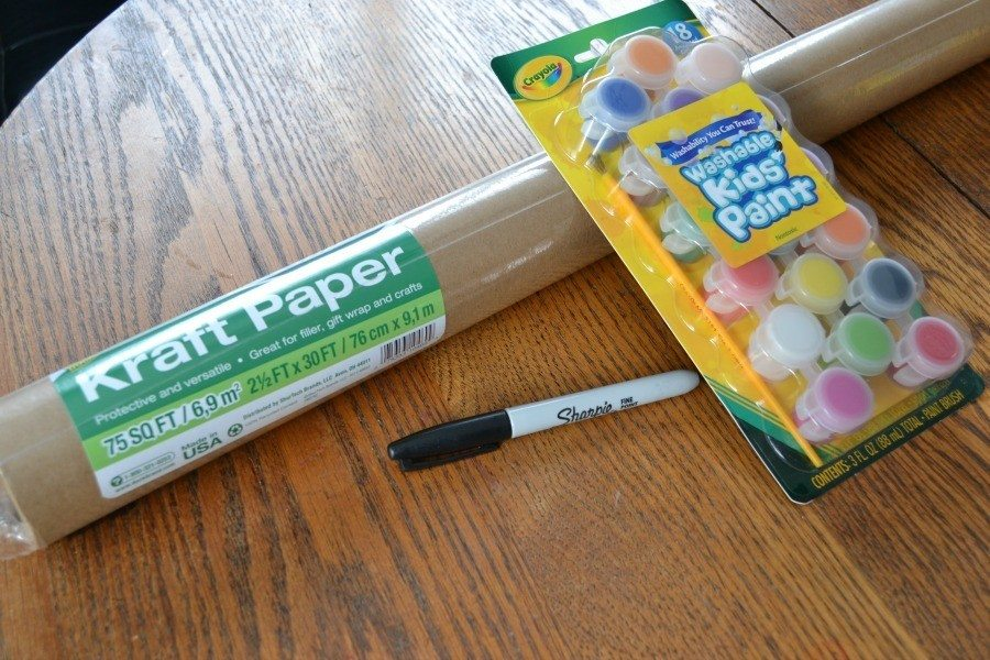 Crayola Table Cloth Supplies