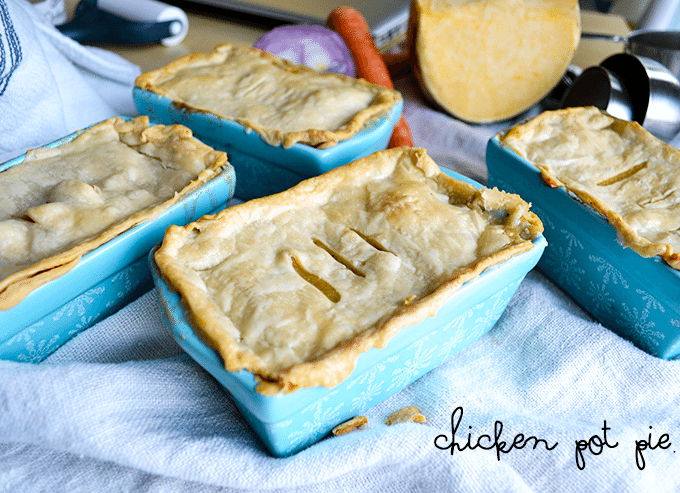 Delicious individual pot pies from nelliebellie.com