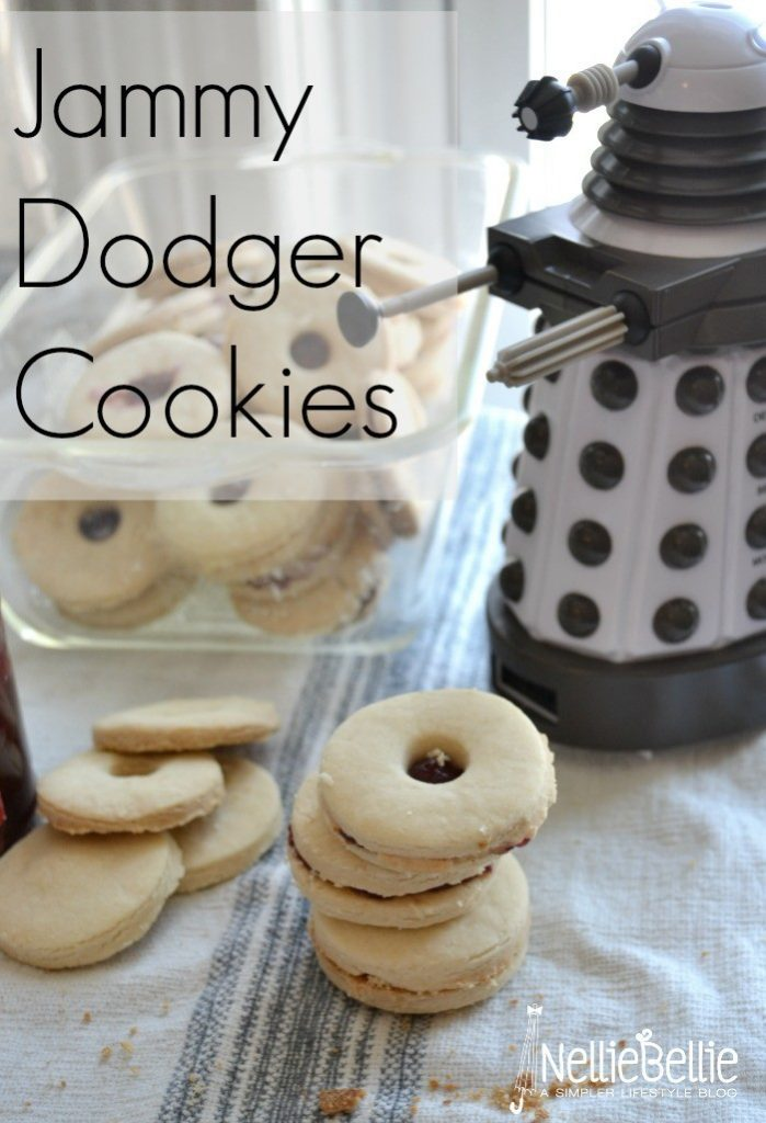 These Jammy Dodger Cookies were inspired by Dr. Who and are a very simple way to add excitement to any viewing party. As if Dr. Who needed it...