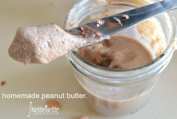 Homemade peanut butter nelliebellie.com
