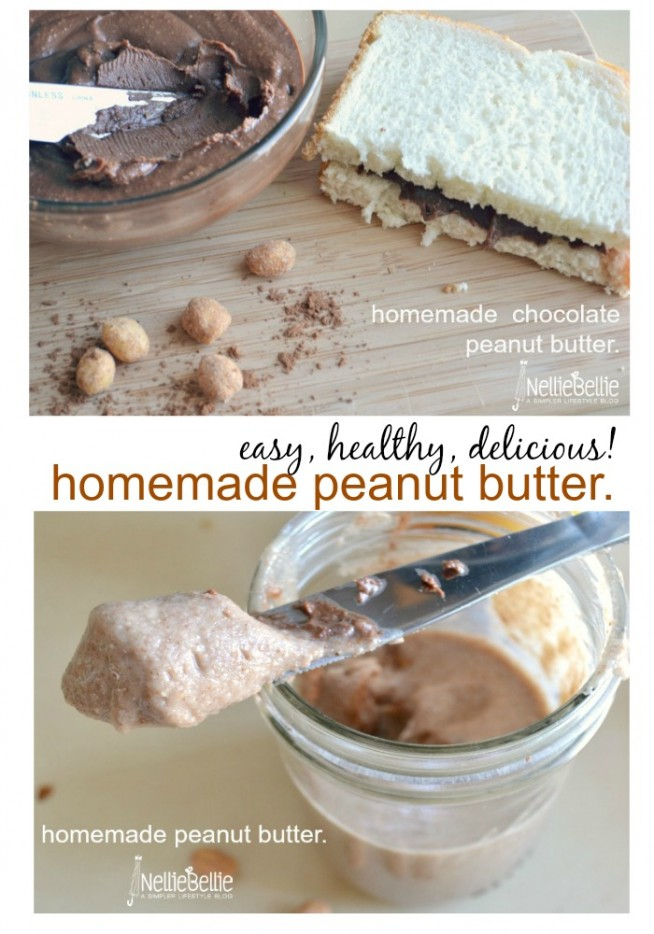 Homemade peanut butter is so much better than regular peanut butter!