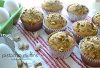 Delicious and easy (relatively) pistachio muffins from nelliebellie.com