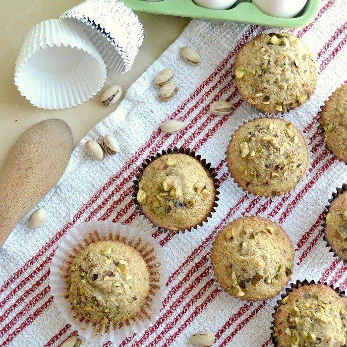 homemade pistachio muffins