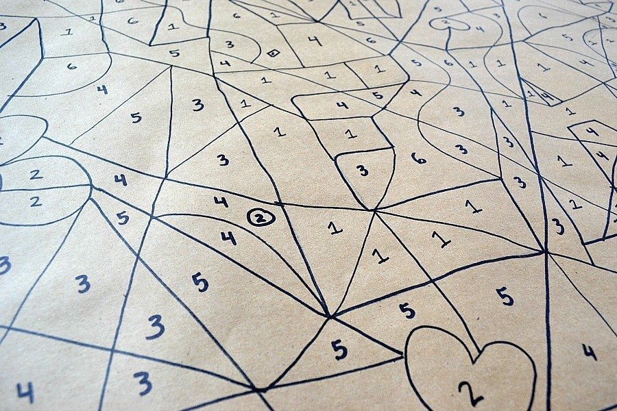 tablecloth with numbers