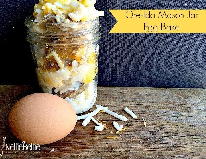 mason jar hashbrown egg bake from nelliebellie.com
