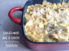 cauliflower mac n cheese from nelliebellie.com