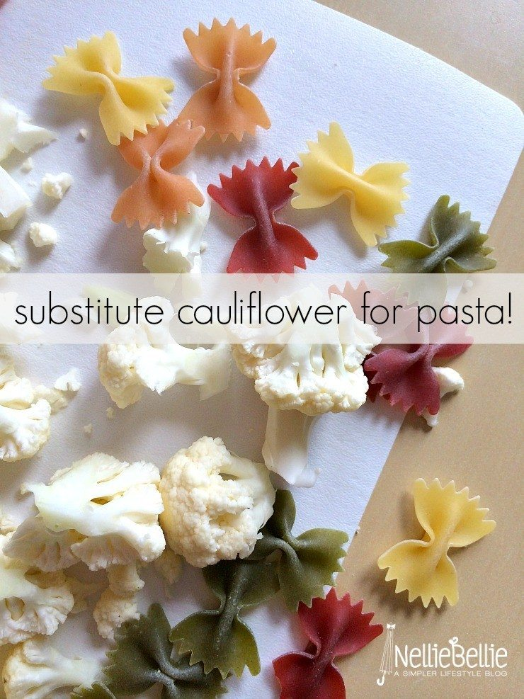 Cheesy cauliflower recipes: Substitute some of the pasta for cauliflower in dishes!