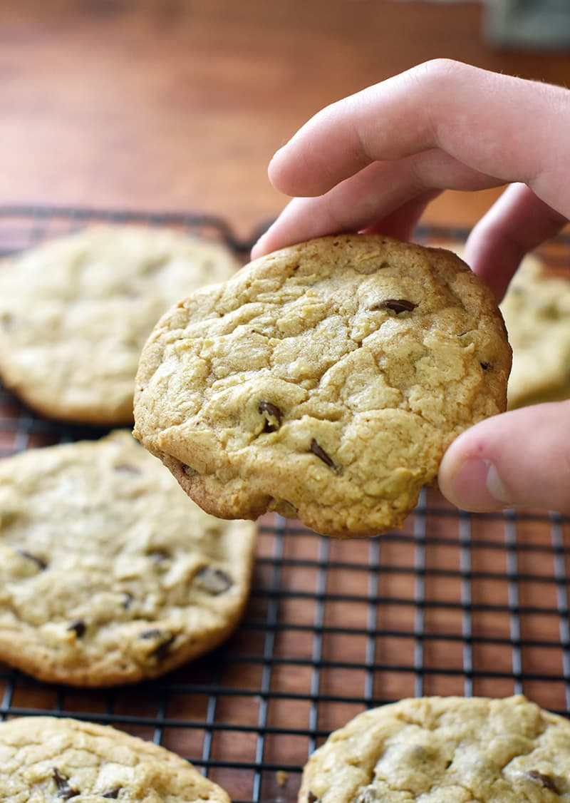 these are the BEST chocolate chip cookies. Easy to make, soft, and perfect warm out of the oven! A family favorite cookie.