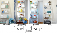 How to use 1 shelf for many looks.