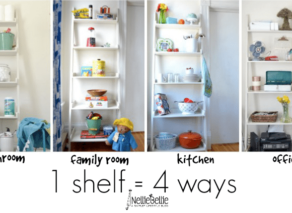 shelving ideas from nelliebellie.com