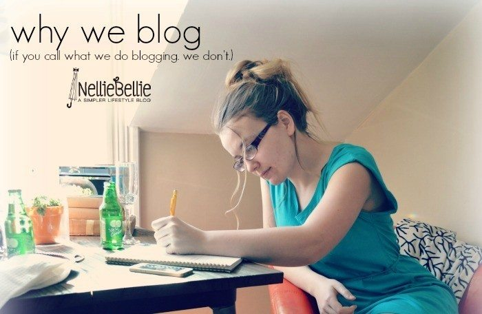 Why we blog, from nelliebellie.com
