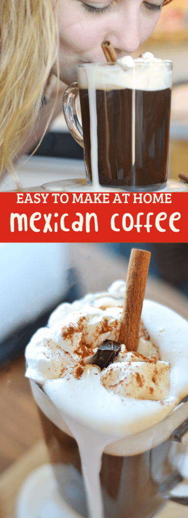 This Mexican coffee recipe is easy to make at home! A delicious coffee drink perfect for cake and conversation.