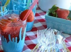 These disposable dishes are an absolutely adorable addition to summer parties! They make any dishes fancier! From nelliebellie.com