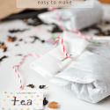 Make your own diy tea bags from coffee filters. Perfect for when you want to use loose-leaf. Or for gifting.