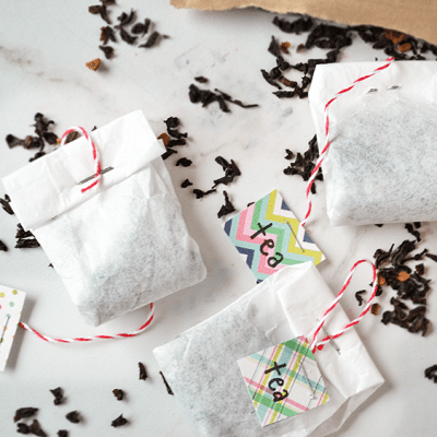 DIY Tea Bags (from coffee filters, muslin, or cheesecloth)