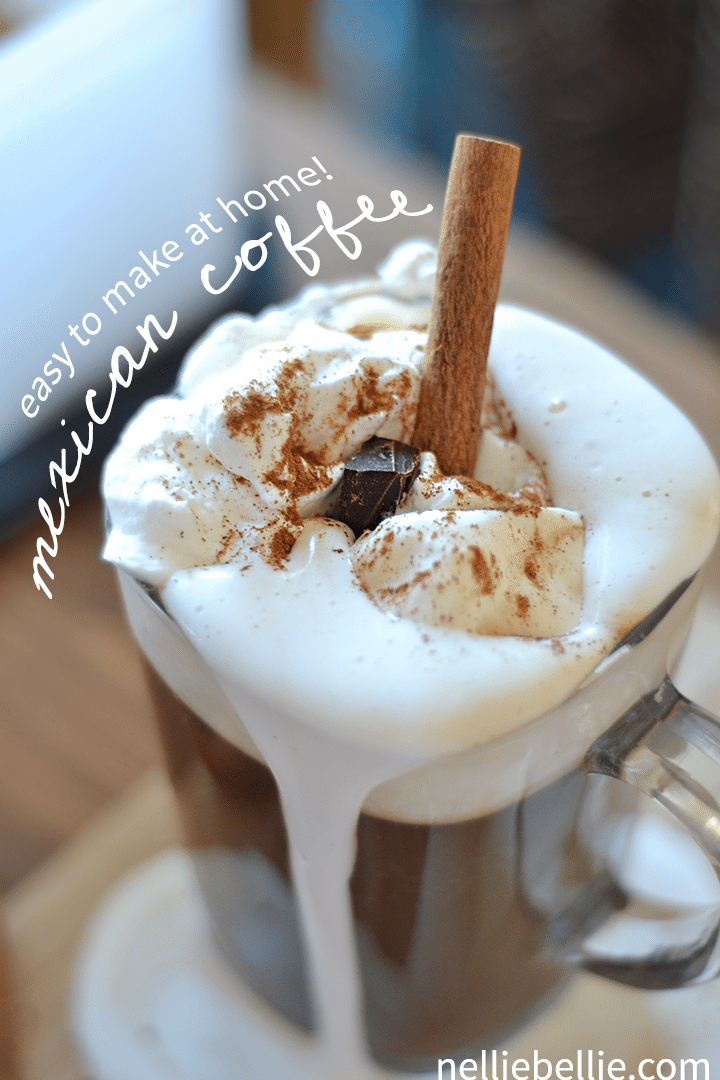 Make a Mexican Coffee at home! Easy to make and delicious!