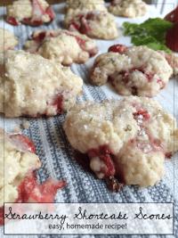 Strawberry Shortcake Scone Recipe