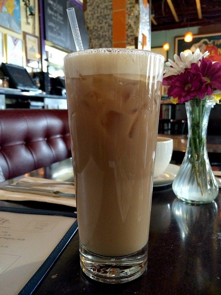 Tree hugger coffee from Barbettes, delicious soy drink!