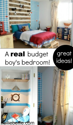 A boy's room on a budget. With great diy and craft ideas!