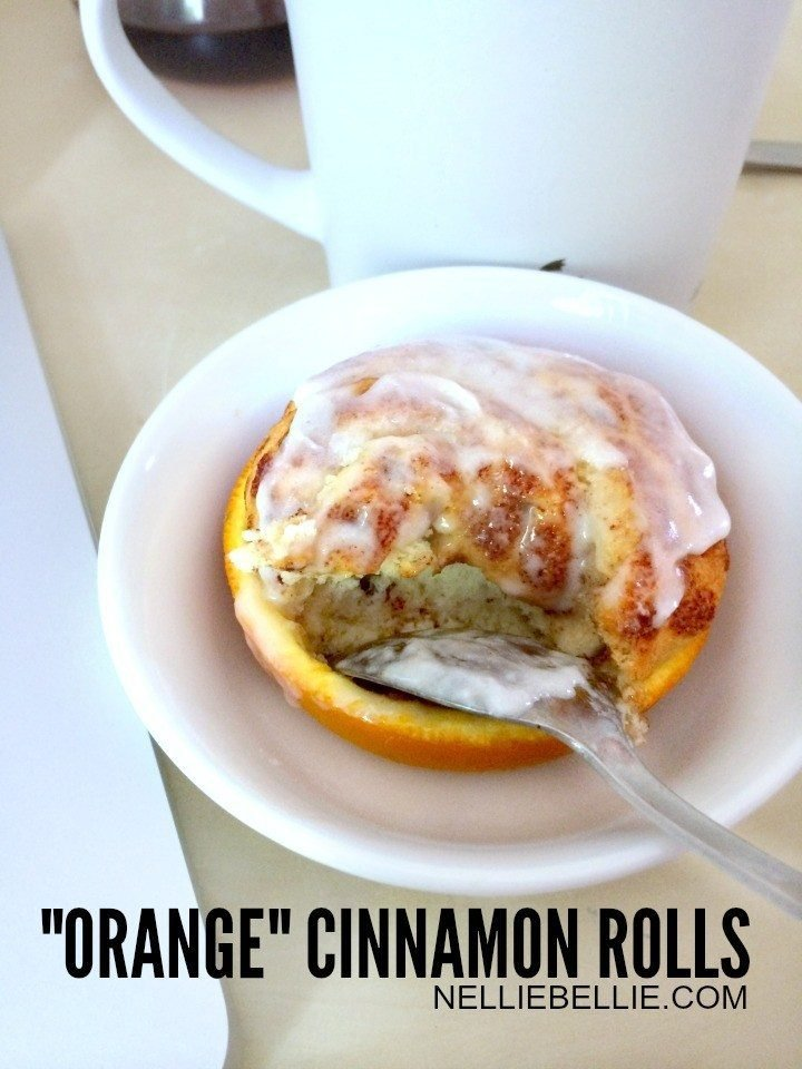 Cinnamon Rolls in Oranges (busy mom hack)