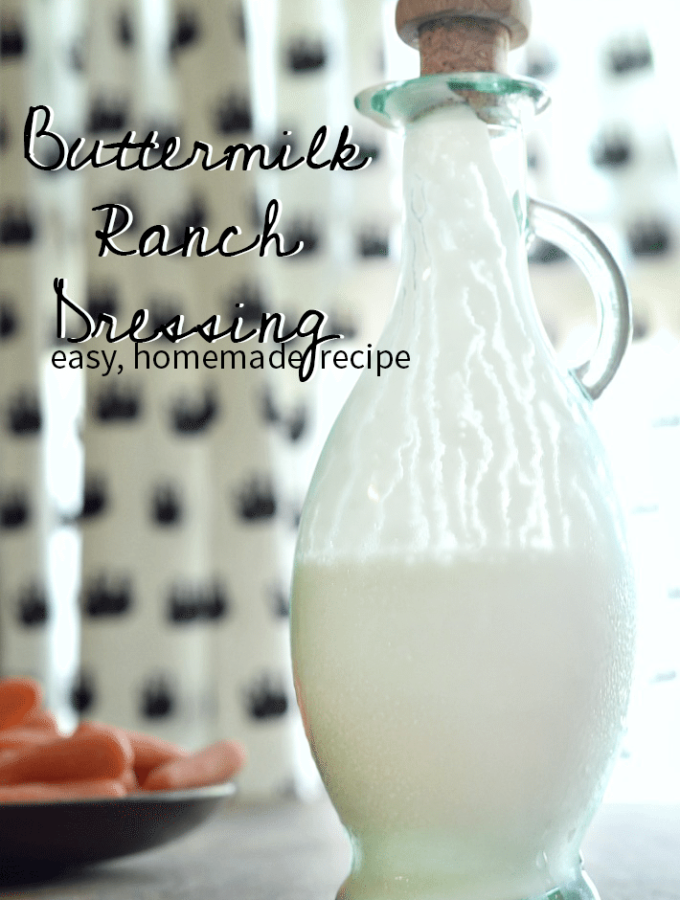 Homemade ranch dressing that is the easiest version you've ever seen!