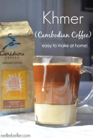 Cambodian Coffee (Khmer) is a very simple coffee drink that uses just coffee and sweetened condensed milk, but tastes absolutely fantastic! This is a great drink for people who appreciate gourmet coffee, but don't have an espresso machine or the ability to froth milk. It's rich, creamy, and unique.