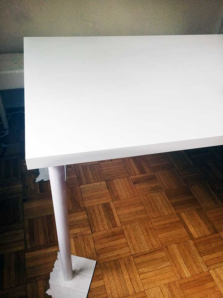Sharpie Table; a simpe update that uses just paint and oil-based Sharpies