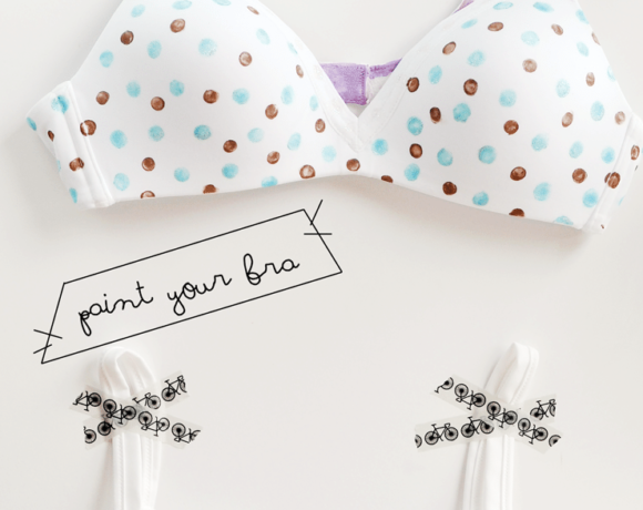 Paint a plain white bra into something adorable!! Easy and inexpensive! Painted bras are so great! #paint #bra