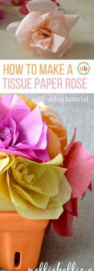 Make these gorgeous roses out of tissue paper. An easy to follow tutorial.