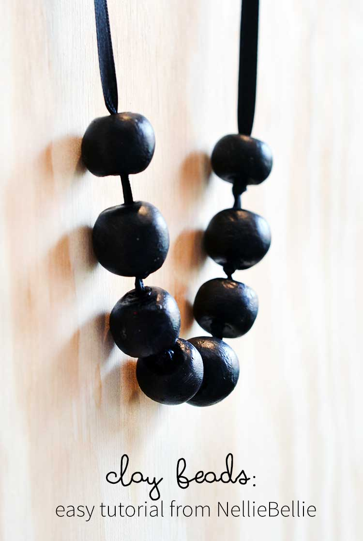clay beads | an easy tutorial from NellieBellie