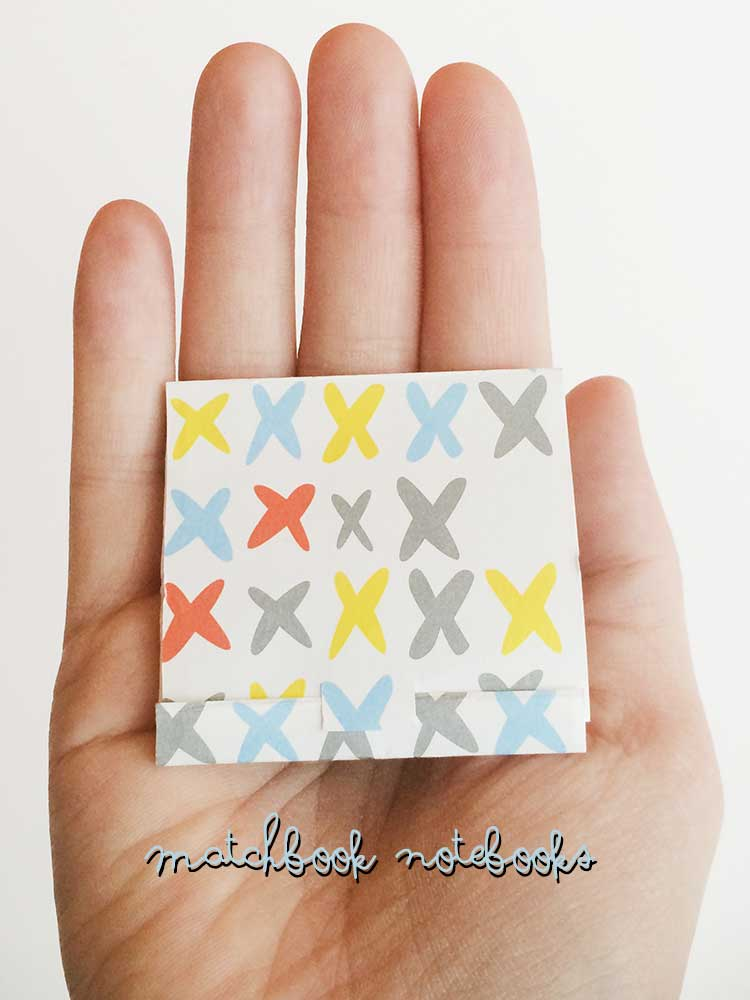 How to Make DIY notebooks: Matchbook Notebooks are adorable and easy to make with this trick from www.nelliebellie.com #tutorial #craft #matchboxnotebooks #gift