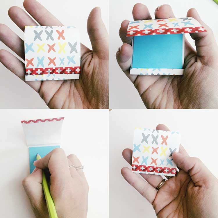 Make your own matchbook notebooks the easy way!! Tutorial from www.nelliebellie.com #craft #notebook #gift