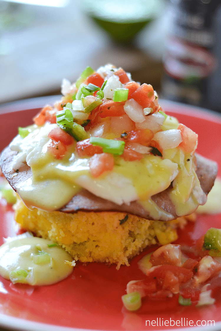 Tex Mex Eggs Benedict variation; yum! #eggs #breakfast